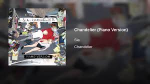 Chandelier Advertising Chandelier Piano Version Youtube