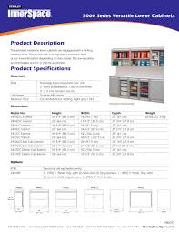 Lower Cabinets 3000 Series Lower Cabinets Spec Sheet Stanley Healthcare Pdf