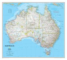 Large World Map Poster by Australia Wall Map Wall Maps