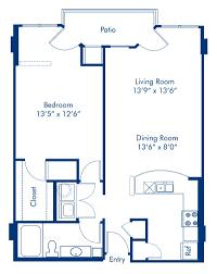 studio 1 2 3 bedroom apartments in charlotte nc camden blueprint of the lexington floor plan 1 bedroom and 1 bathroom at camden grandview apartments
