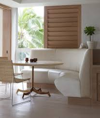 Banquette Dining Furniture Banquette Dining Table Dining Room Contemporary With Wall Art