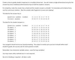 create a class to grade student responses to a mul chegg com
