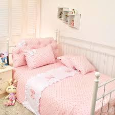 Single Bed Sets Polka Dot Princess Bow Bedding Single Bed Child Bedding Set Blue