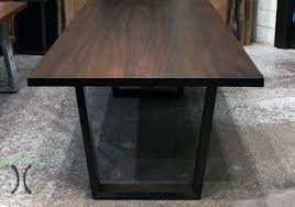 live edge table chicago sapele stained large conference table at chicago area showroom