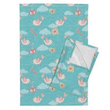 rush hour birds color trends 2016 tea towels by mia valdez