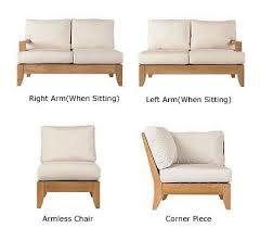 Grade A Teak Patio Furniture by 5 Pc A Grade Teak Wood Outdoor Teakwood Patio Sectional Sofa Set