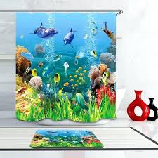 coastal collection sea life shower curtain under