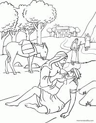good samaritan coloring page 9528