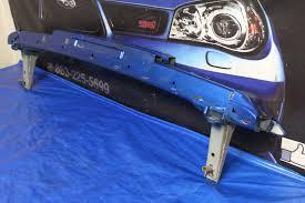 crashed subaru wrx 2002 2007 subaru impreza wrx u0026 sti rear crash bar bumper beam