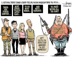 Pro Gun Control Meme - while most americans shun guns the fearful keep buying mor