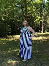 super style me maxi mum stripes plus size fashion blog 30 day