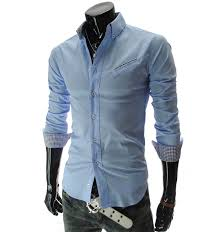 2017 new mens shirts british style long sleeve male slim casual