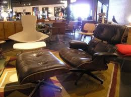 vintage eames lounge chair and ottoman machine age new england s largest selection of mid 20th century
