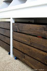 How To Build A Wooden Toy Box by Rustic Toy Storage Unit Build Plans A Houseful Of Handmade