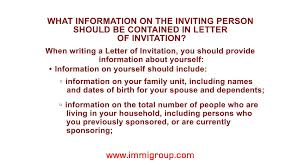 Japanese Embassy Letter Of Invitation what information on the inviting person should be contained in