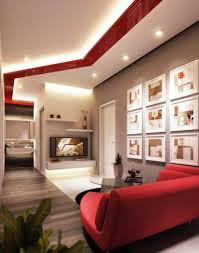 living room decorating ideas features ergonomic seats furniture fetching red sofa in modern living room decor ideas with wall art design and remarkable tv