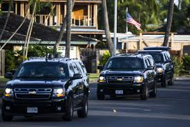 Obama Hawaii by Drone Flying Alongside Obama U0027s Motorcade In Hawaii Stopped By
