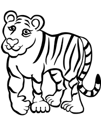 sad tiger coloring page free printable coloring pages
