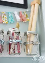 hanging jar craft supply storage hometalk