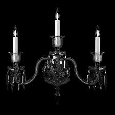 3 Light Sconce Baccarat Zenith Wall Sconce 3 Lights Clear Crystal 3d Model Max