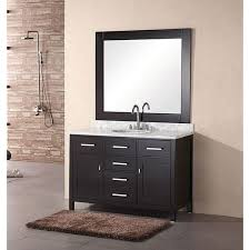Bathroom Vanities And Mirrors Sets Design Element 48 Inch Lindon Modern Bathroom Vanity Set With