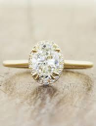 oval engagement ring with halo yuri subtle halo oval engagement ring ken design