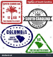 States In United States Map by Vector Stamps South Carolina State United Stock Vector 315550982