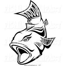 open mouth fish clip art 21