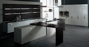modern galley kitchen design modern galley kitchen design blue painted cabinet brown teak wood