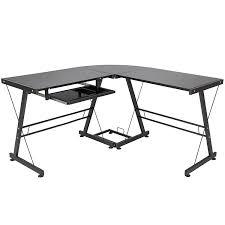 amazon com best choice products l shape computer desk pc glass