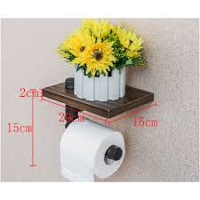 Hanging Toilet Paper Holder Aliexpress Com Buy Wooden Paper Storage Rack With Phone Shelf