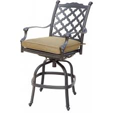 Bar Height Swivel Patio Chairs Darlee Camino Real Cast Aluminum Counter Height Swivel Patio Bar
