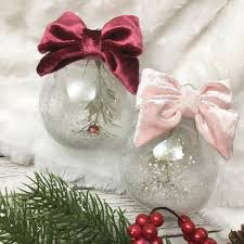 velvet christmas ornaments shabby chic christmas ornaments