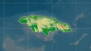 jamaica physical map jamaica map stock footage