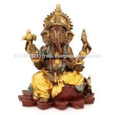 sitting ganesha statue indian deity god idol lord lotus ganesh