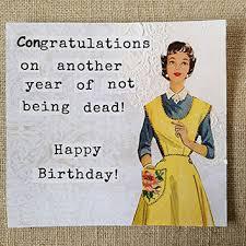 funny birthday card vintage birthday handmade greeting card