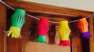 diy door hanging paper lantern door decor for diwali christmas