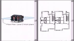 revit floor plan cut plane youtube