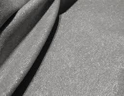 robert kaufman essex yarn dyed metallic linen blend fabric fog