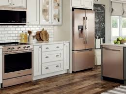 what color appliances with white cabinets sunset bronze by whirlpool pcrichard