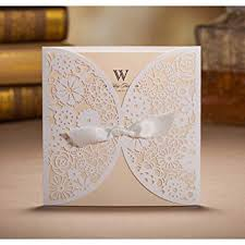 folding wedding invitations wishmade 50 count set laser cut invitations cards kits