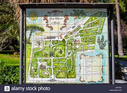 Map Of Naples Fl Naples Italy Map Of The Botanical Garden Stock Photo Royalty Free