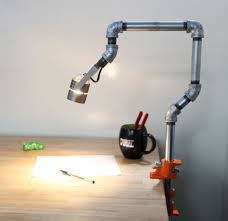 Modern Office Desk Lamps by Creative Idea Diy Office Desk Pipes Table Lamp Brilliant Office