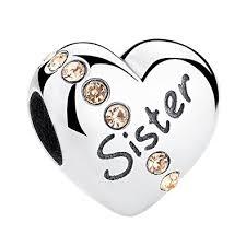 silver crystal heart bracelet images Sister crystal heart charm bracelet bead sterling silver 925 jpg