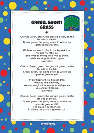 green green grass kids video song with free lyrics u0026 activities