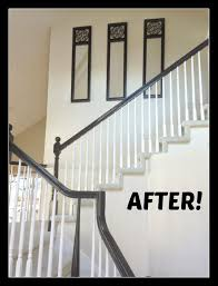 How To Paint A Banister Black Michelle Paige Blogs Before And After Of Painting A Banister