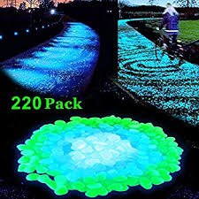 amazon com opps 100 pcs glow in the dark garden pebbles for