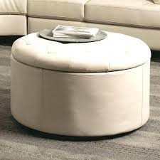 Leather Storage Ottoman Coffee Table White Leather Ottoman Bench Etechconsulting Co