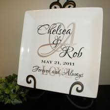 personalized anniversary plates 1000 ideas about wedding name tags on wedding place