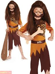 Caveman Halloween Costumes Childs Caveman Cavegirl Costume Boys Girls Stone Age Fancy Dress